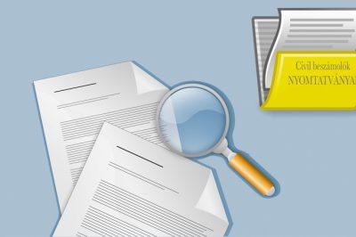 Civil szervezetek beszámolóinak benyújtásához szükséges nyomtatványok