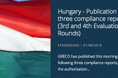 """A GRECO-jelentés """"kiábrándító képet"""" fest a magyar korrupcióról – a kormány szerint viszont számos intézkedést hoztak annak visszaszorítására"""