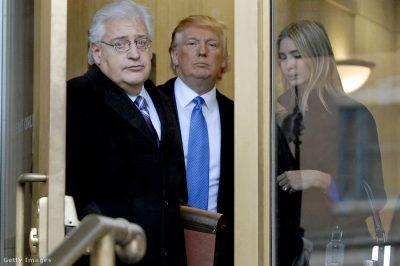 Csődügyekkel foglalkozó ügyvéd lesz az USA következő nagykövete Izraelben
