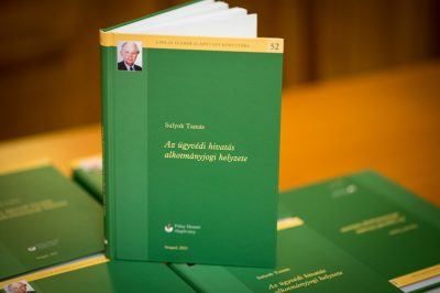 Meg kell őrizni az ügyvédség alkotmányos védelmét - Bemutatták dr. Sulyok Tamás Ab elnökhelyettes könyvét